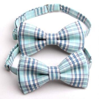 Оригинальная мятная галстук-бабочка
