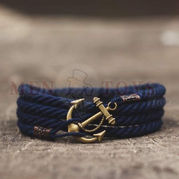 Синий браслет с якорем 4 оборота в Киеве, Днепропетровске, Харькове, Одессе