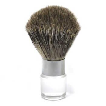 Помазок для бритья с прозрачной ручкой