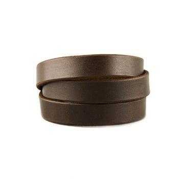 Широкий браслет из натуральной кожи