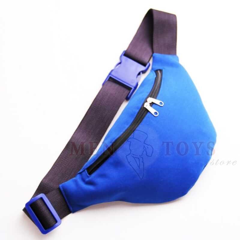 сумка на пояс синего цвета