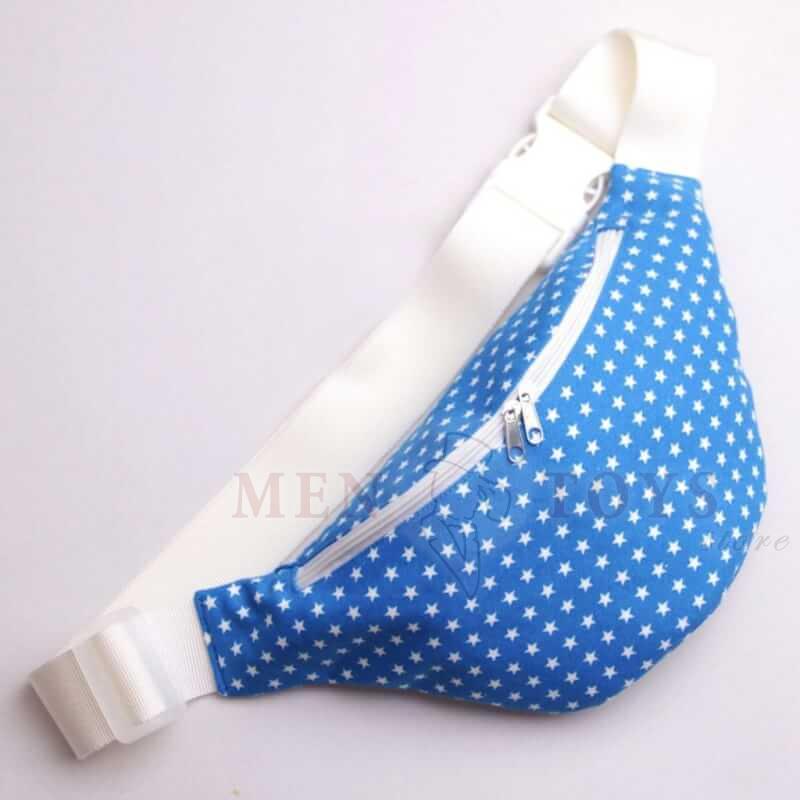 сумка на пояс синего цвета со звездочками