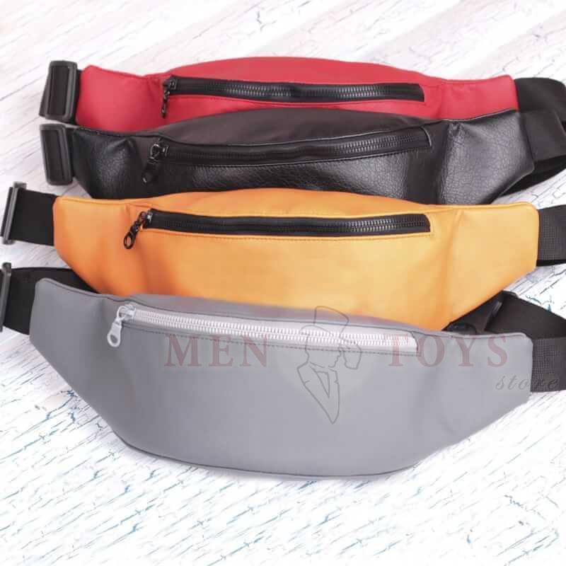 стильные сумки на пояс, кожзам
