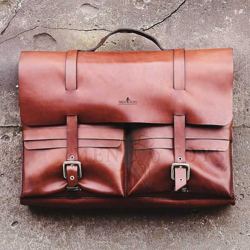 портфель ручной работы из натуральной кожи