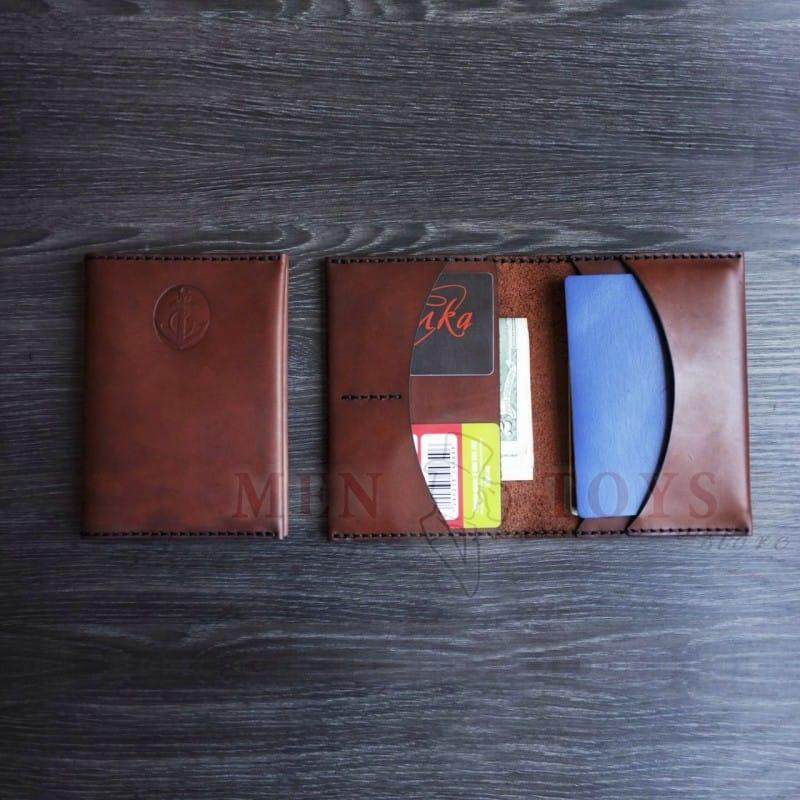 fd4bb2c9d294 ... Фото №4 - Кожаная обложка на паспорт (на 2 паспорта) ручной работы ...