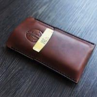 Кожаный чехол для iPhone 4/5/6 и др. телефонов в комплекте со скидкой
