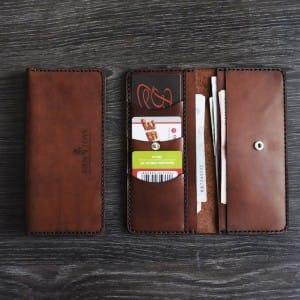 Удобное портмоне ручной работы из натуральой кожи