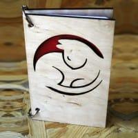 Стильный блокнот с гравировкой