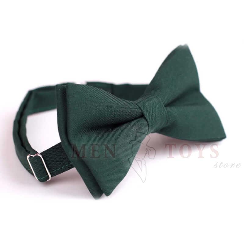 галстук-бабочка темно-зеленого цвета