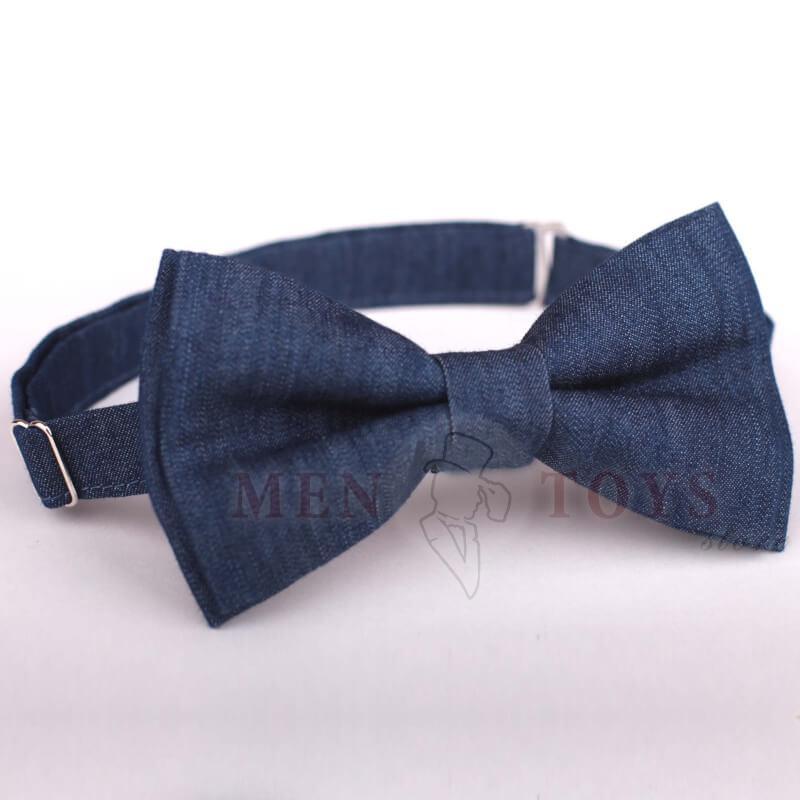 галстук-бабочка из итальянского джинса