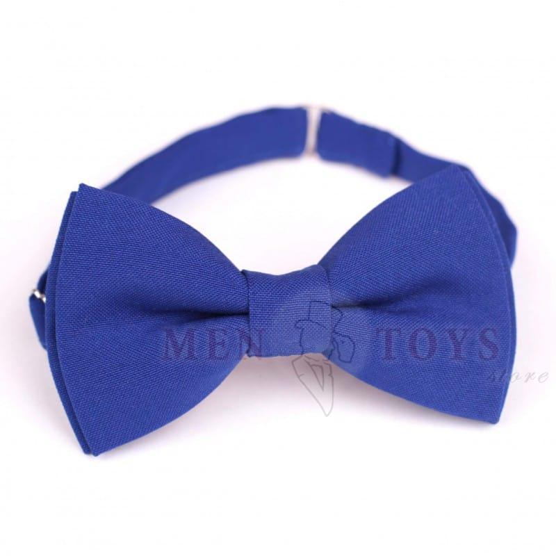 галстук-бабочка синего цвета