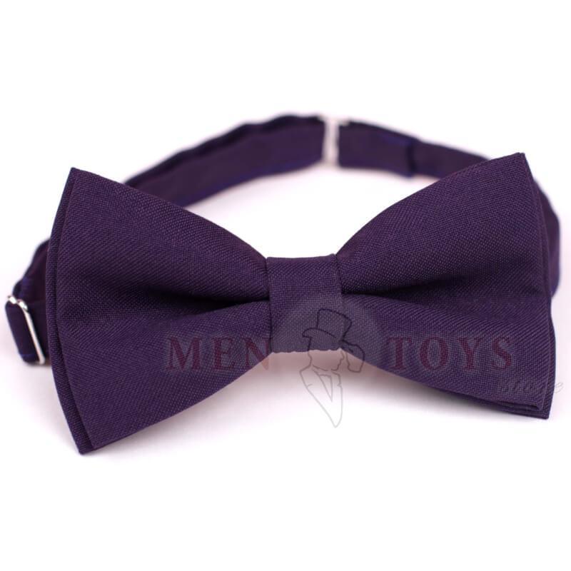 фиолетовая галстук-бабочка