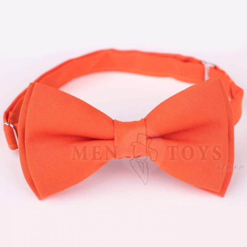 галстук-бабочка оранжевого цвета