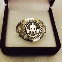 Печатка, кольцо с пауэрлифтером из золота