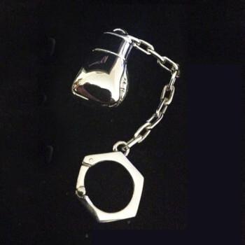 Брелок для ключей Боксерская перчатка, серебро