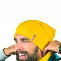 Желтая шапка для мужчин