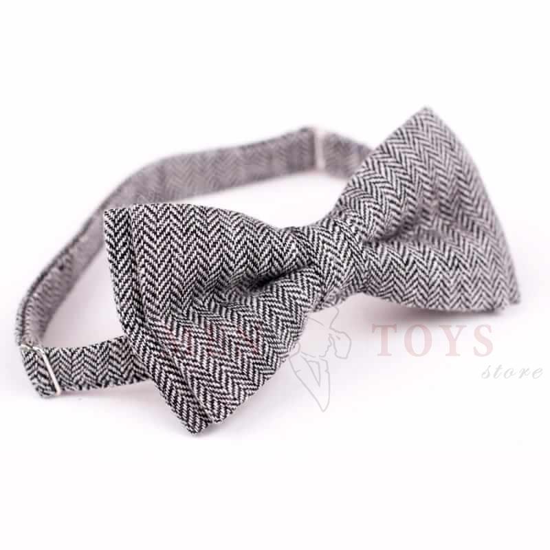 галстук бабочка из твидовой ткани