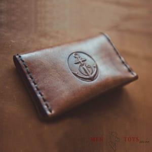 Кожаный кардхолдер для карт ручной работы