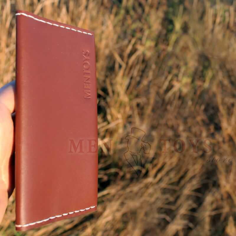 кожаное портмоне ручной работы с молнией