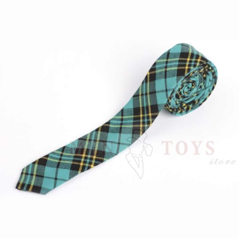 галстук в клетку из твидовой ткани