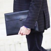 Кожаная сумка нотубука или документов