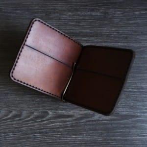 Кожаный зажим для денег