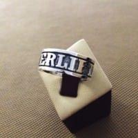 Серебряное кольцо Powerlifting