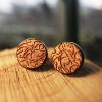 Мужские запонки с натурального дуба