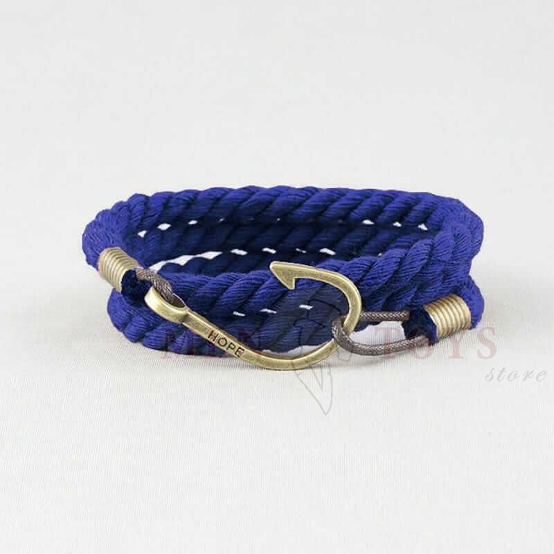 синий браслет с крючком