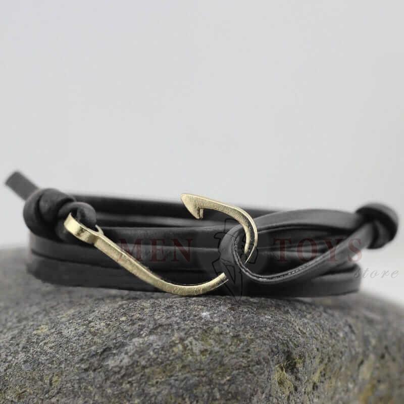 кожаные браслеты с крючком