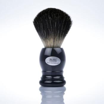 Черный помазок для бритья из ворса барсука