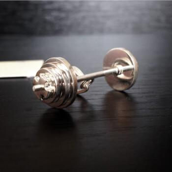 Кулон прямая разборная штанга, серебро