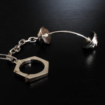 Брелок для ключей выгнутая штанга, серебро