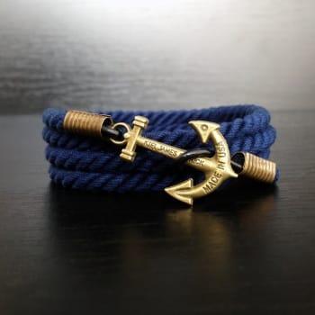 Синий браслет с якорем kiel james patrick