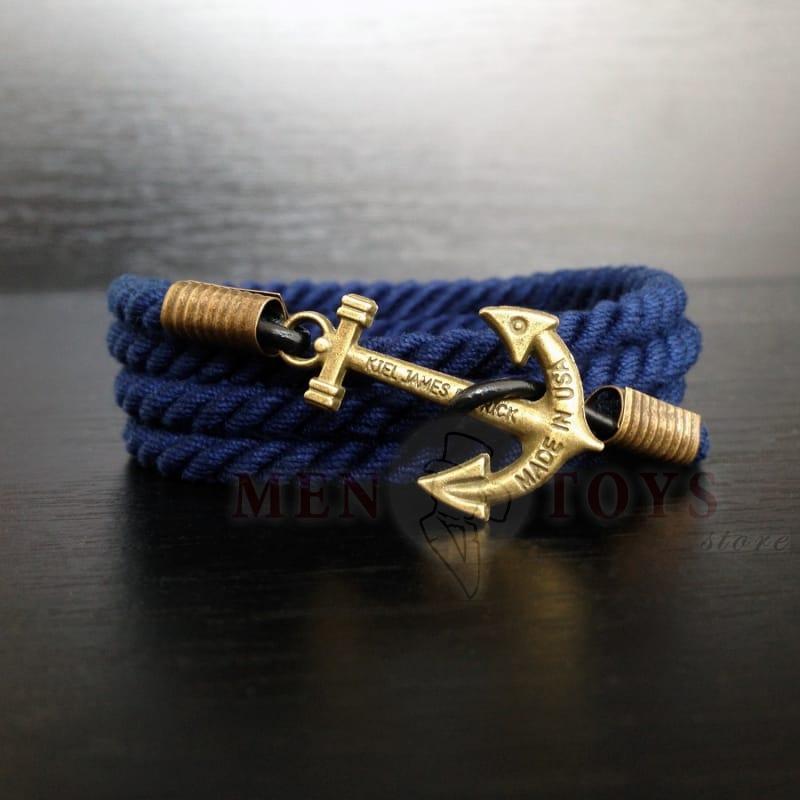 Синий браслет с якорем kiel james patrick в Киеве, Днепропетровске, Харькове, Одессе