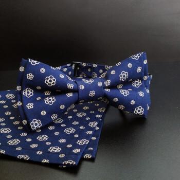 Синяя галстук бабочка, цветочная