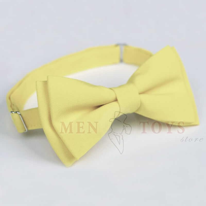 галстук бабочка лимонного цвета