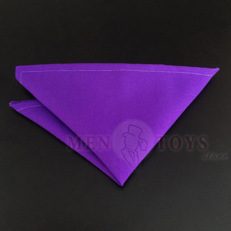 фиолетовый нагрудный платок для пиджака