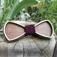 Галстук-бабочка из дерева