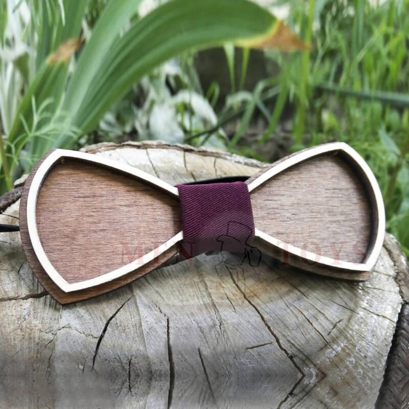 "галстук-бабочка из дерева ""бабочка"""