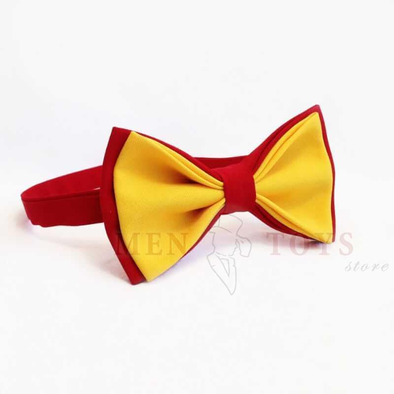желто-красная галстук бабочка
