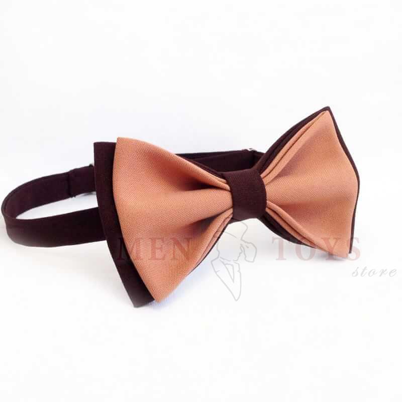 галстук бабочка в коричневых тонах