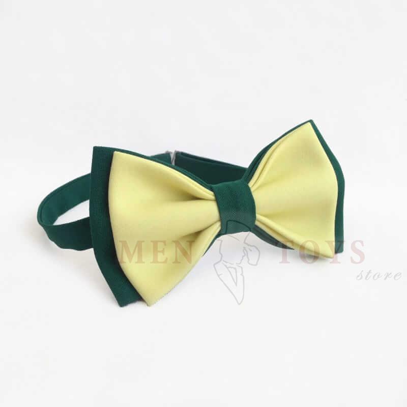 галстук-бабочка желто-зеленая