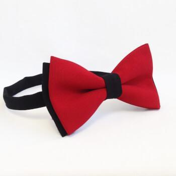 Красная c черным галстук-бабочка