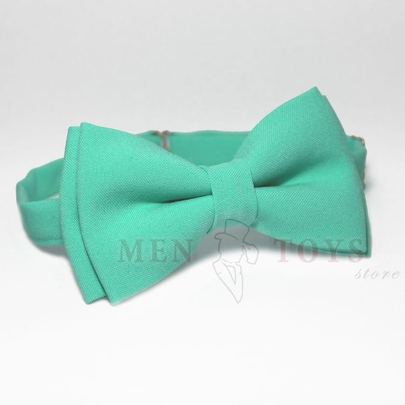 мятная галстук-бабочка