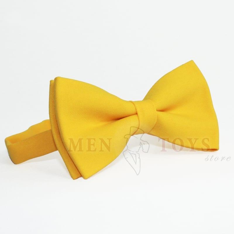 галстук-бабочка желтого цвета