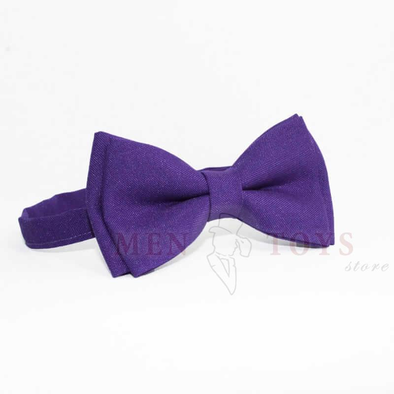 галстук-бабочка фиолетового цвета
