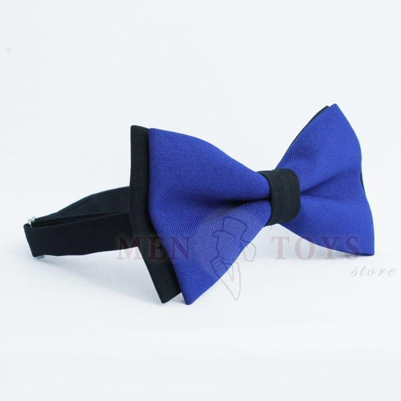 галстук-бабочка темно-синяя с черной подложкой