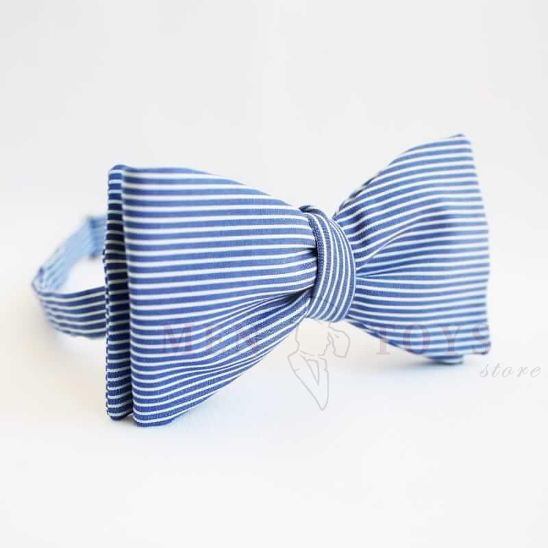 галстук бабочка самовяз полосатая