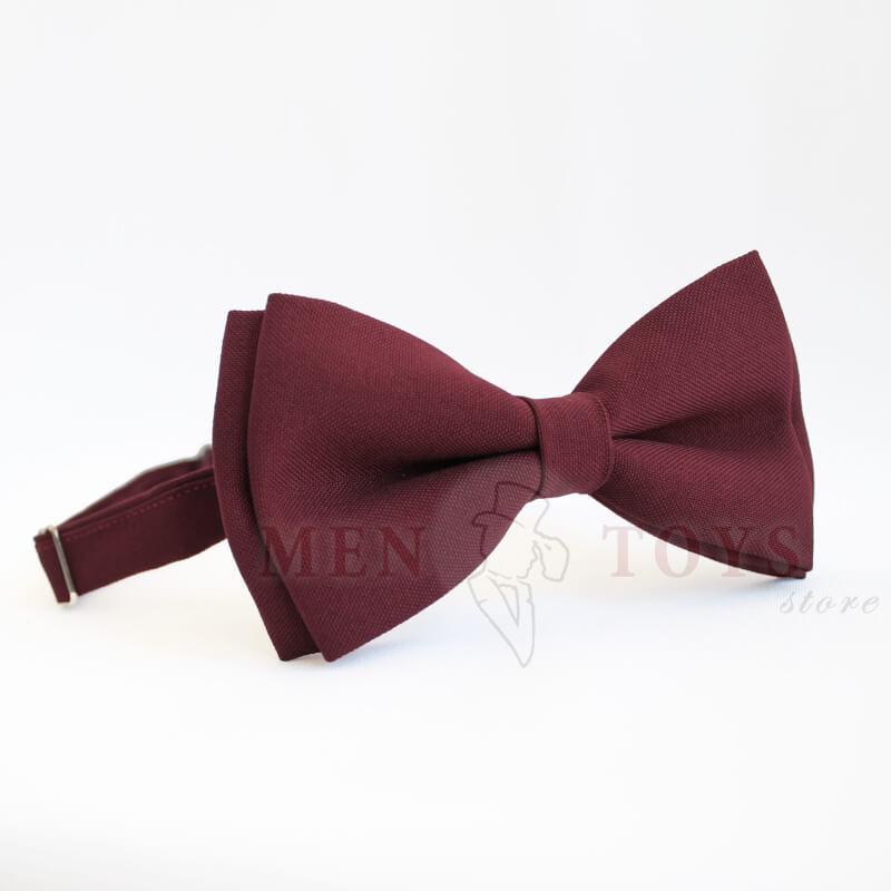 галстук-бабочка бордового цвета